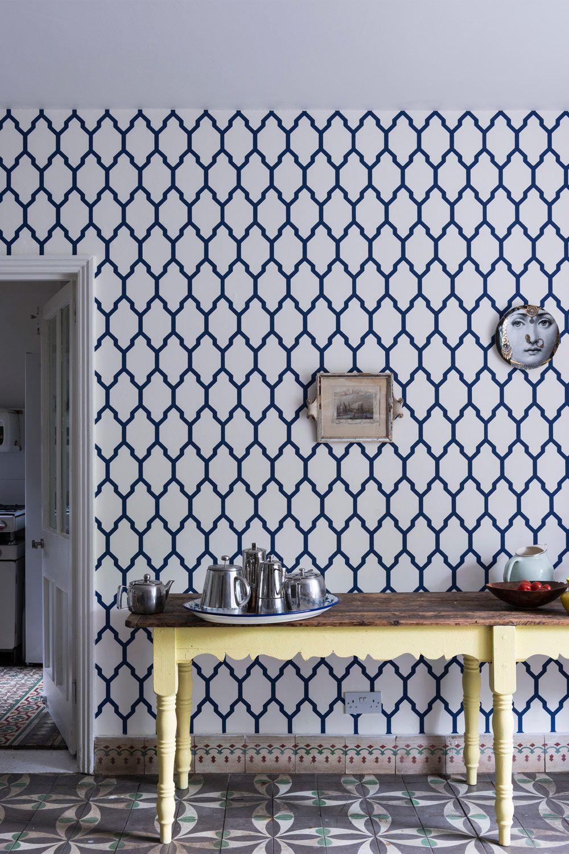 Interessante Kombination für die Küche mit ornamentalem Fußboden ...