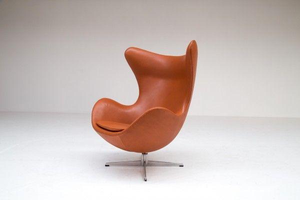 Egg Chair Aus Stahl Und Leder Von Arne