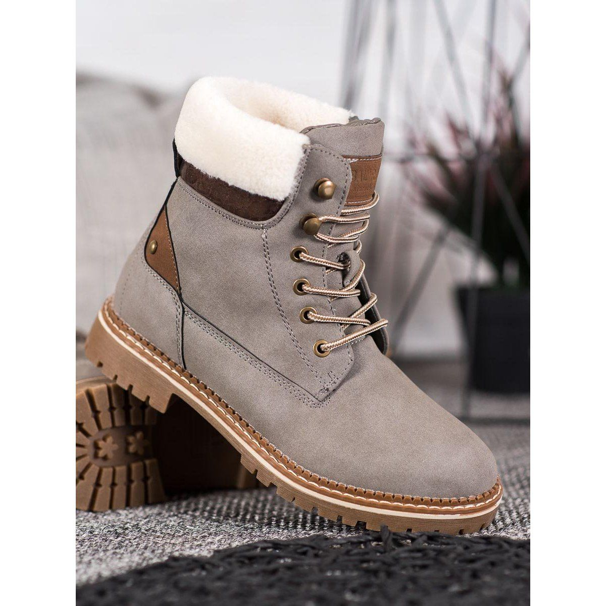 Sds Tekstylne Trapery Szare Military Pants Timberland Boots Boots