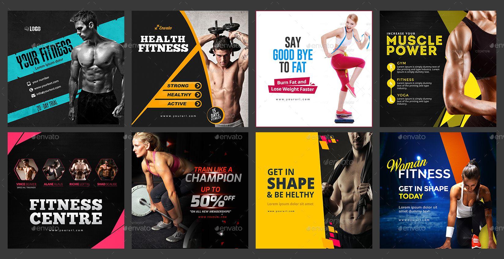 Gym Fitness Instagram Banner Templates 100 Designs Updated