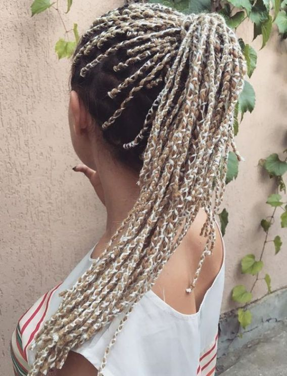 20 Cosy Hairstyles with Yarn Braids # fulani Braids with yarn 20 Cosy Hairstyles with Yarn Braids # fulani Braids with yarn