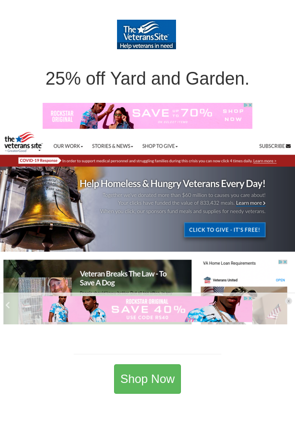 Best Deals And Coupons For The Veteran S Site In 2020 Veteran Helping The Homeless Coupons