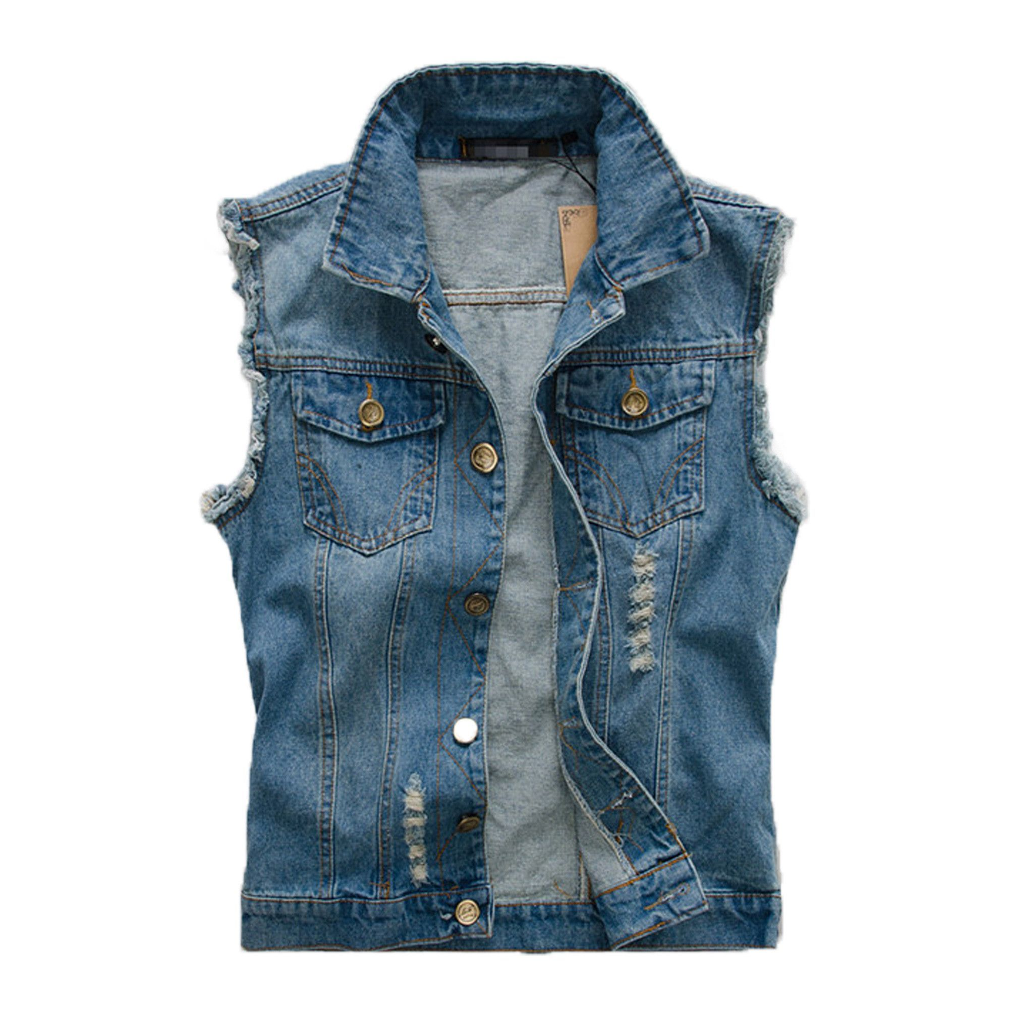 Mens Denim Jean Vest Denim Vest Men Mens Jean Vest Mens Street Style [ 2000 x 2000 Pixel ]