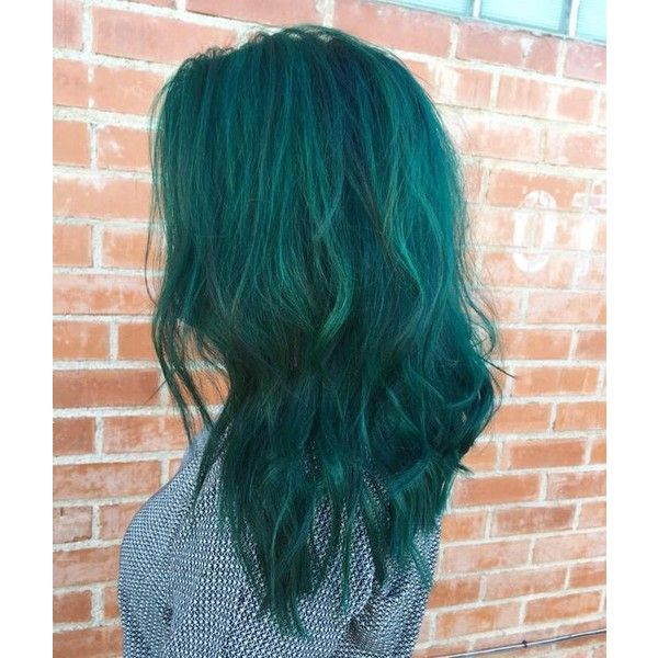 Dark green hair ❤ liked on Polyvore featuring accessories and hair accessories