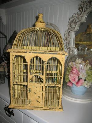 yellow bird cage