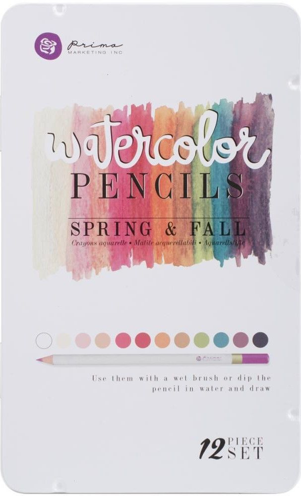 Prima Marketing Spring Fall Mixed Media Water Color Pencils