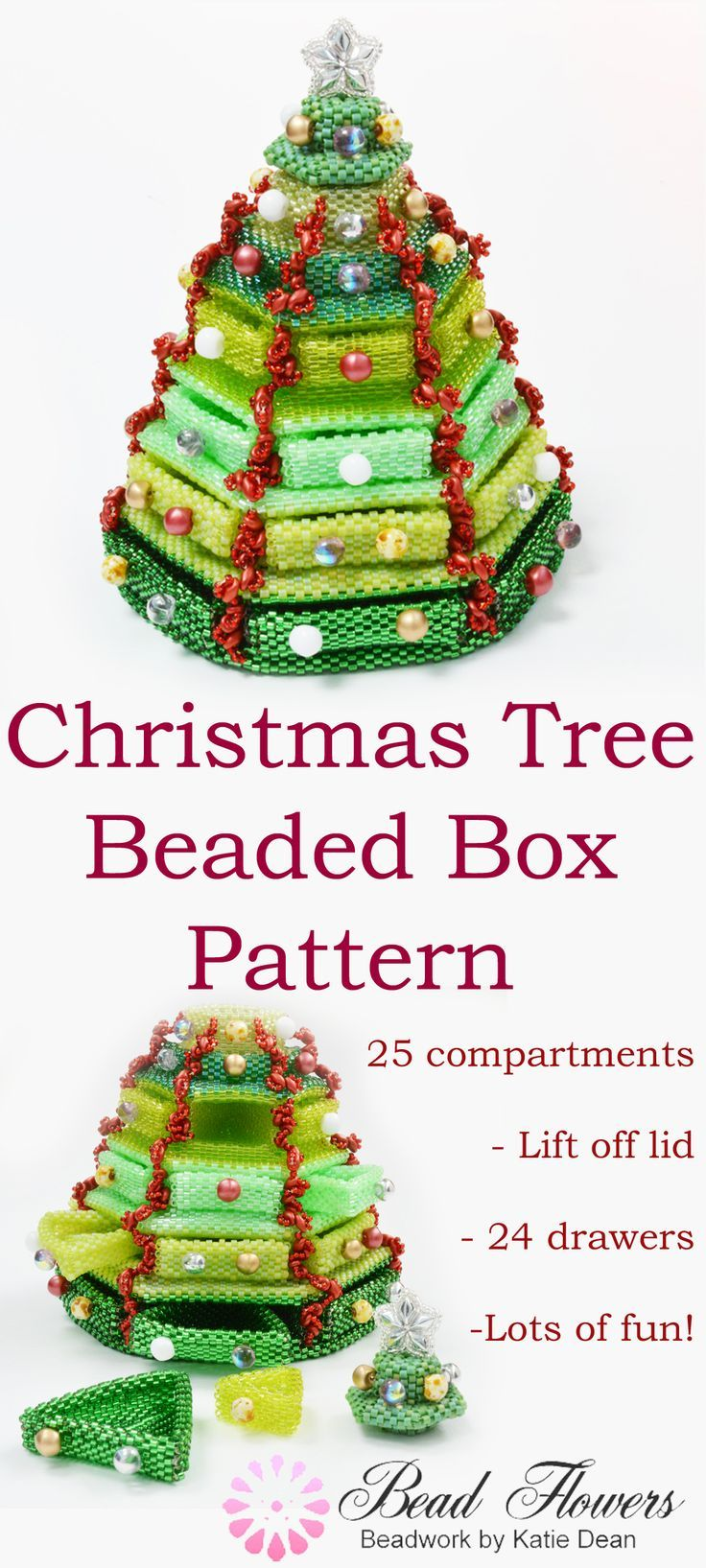 Christmas Tree Beaded Box Pattern Beaded boxes