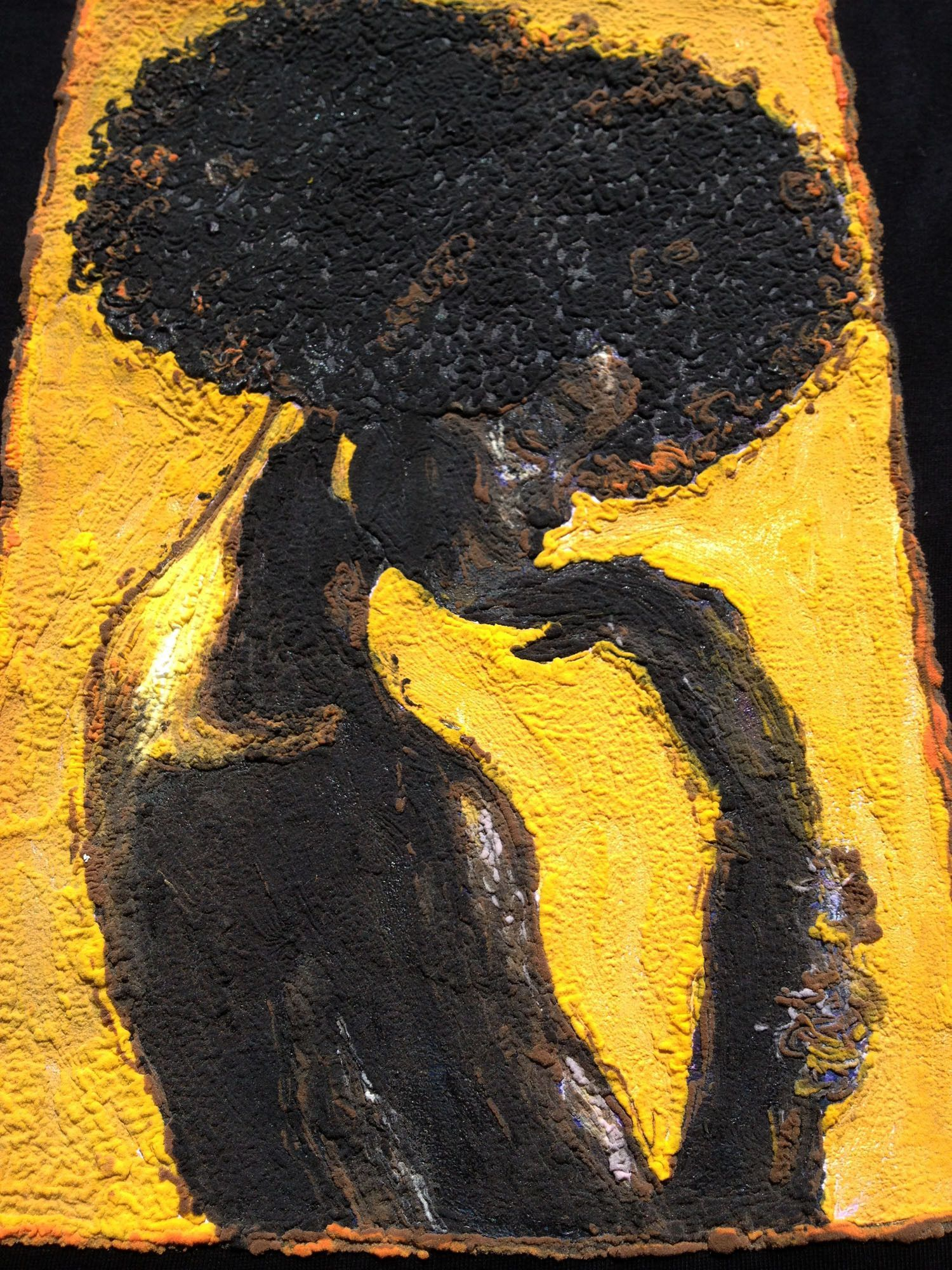 African American T-shirt BLACK IS GOLD Queen Painted 3d   Afro world ...