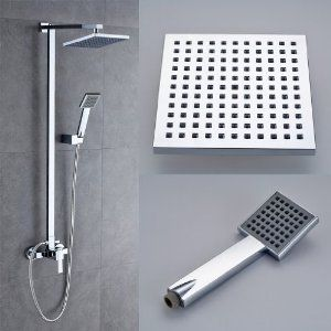 Modern Shower Sets For Bathroom(Including A Top Fixed Shower Head,a  Handheld Shower