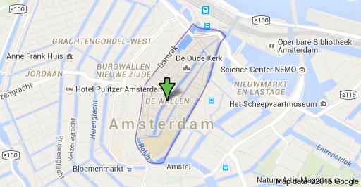 Map of De Wallen Amsterdam Netherlands Places to Visit