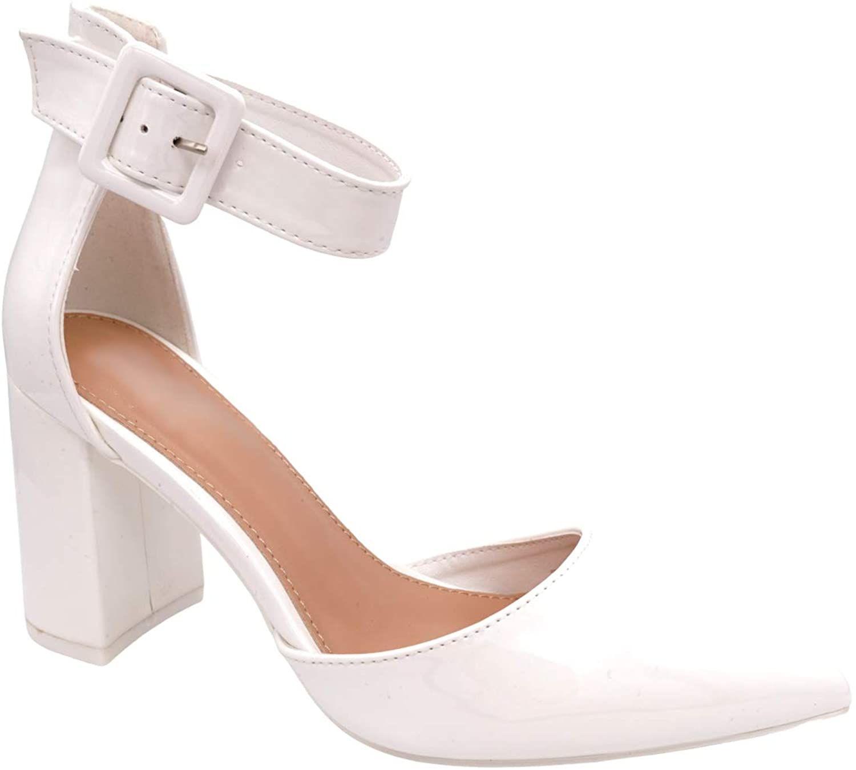 YZHYXS Chaussures /à talon carr/é pour femme avec bout carr/é en T