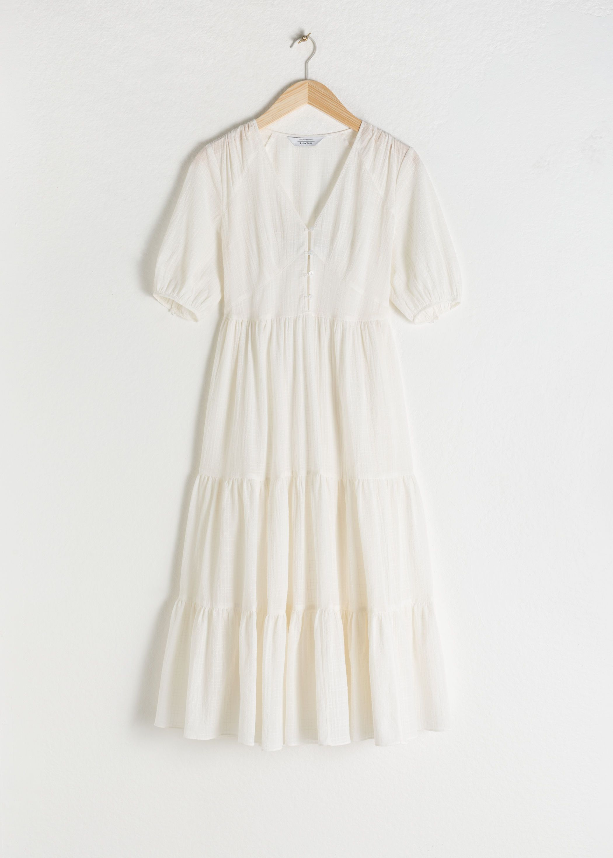 Ruffle Tier Cotton Midi Dress Cotton Midi Dress Dresses White Midi Dress [ 2940 x 2100 Pixel ]