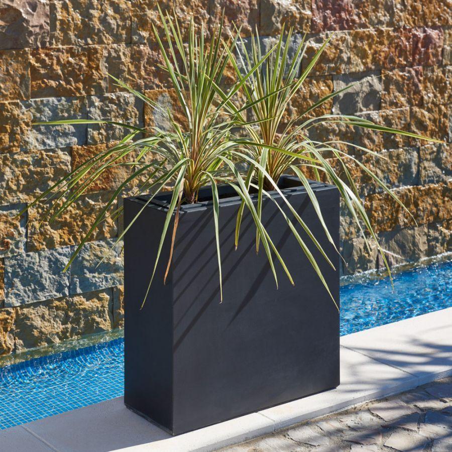 Hoge Verzinkte Plantenbak Met Inzetbak Zwart 80 X 25cm 109 99 Pflanzenkubel Garten Neu Gestalten Blumenkasten