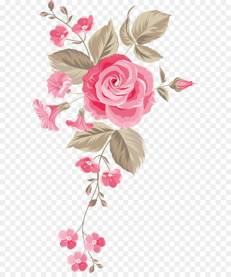 Hand-painted Flowers Background