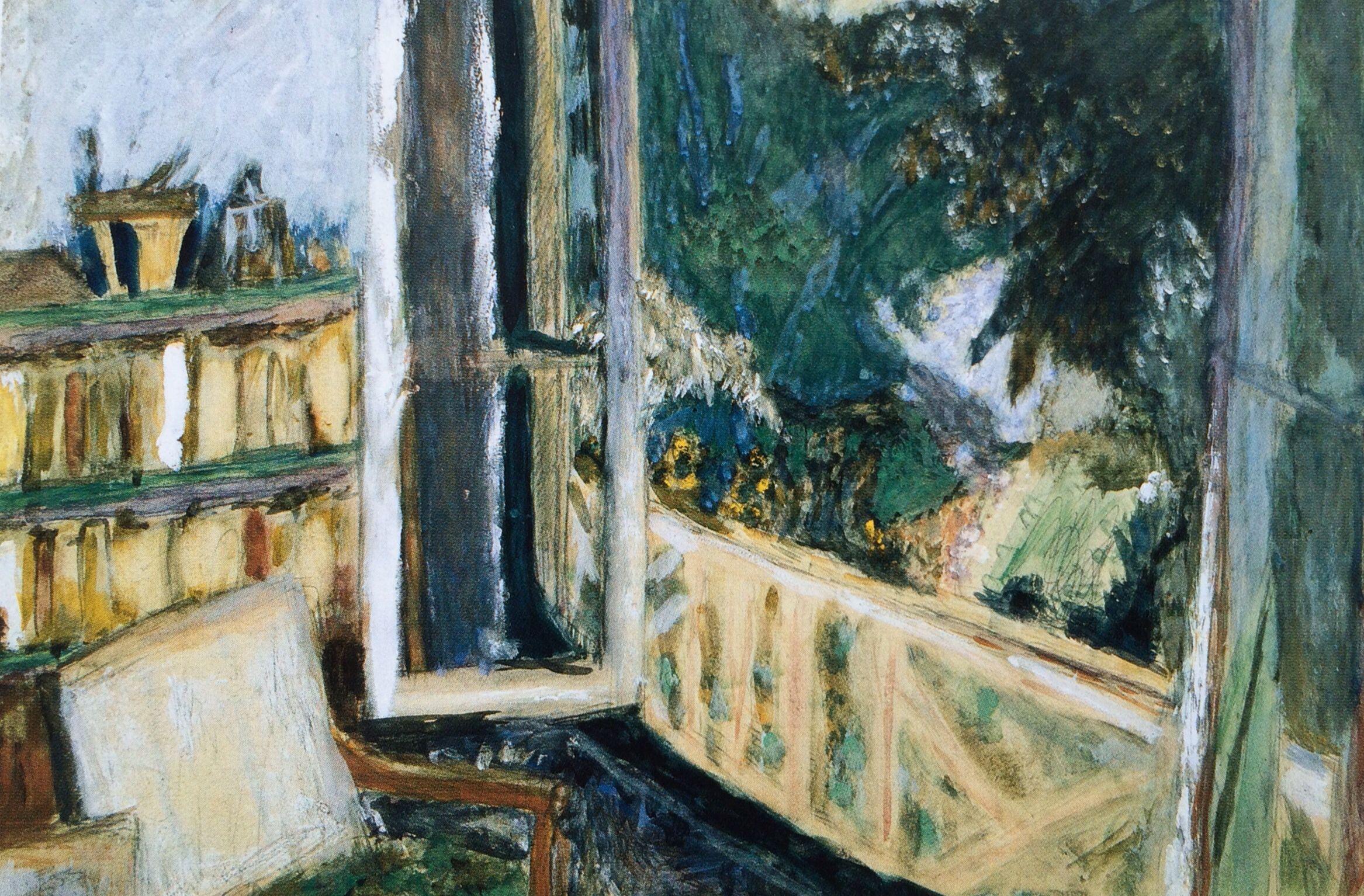 Interieur Fenetre Ouverte Sur Jardin Vers 1920 Aquarelle Et