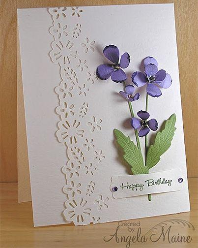 purple birthday flowers so pretty diy cards ideas carte anniversaire cartes anniversaire. Black Bedroom Furniture Sets. Home Design Ideas