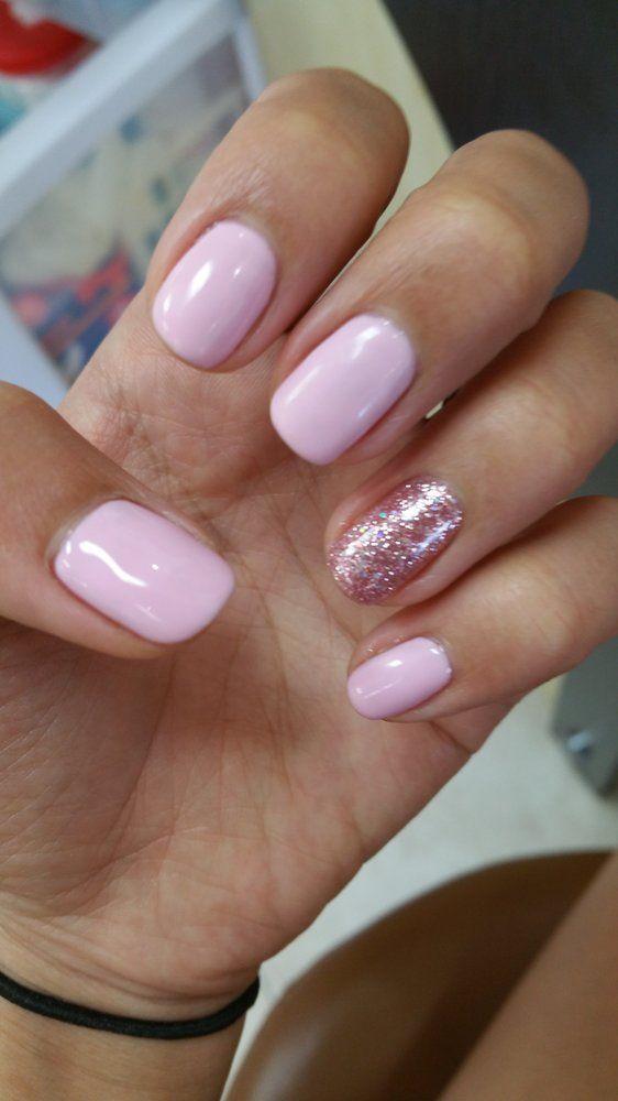 Light pink gel nails | My Style | Pinterest | Glitter nail designs ...