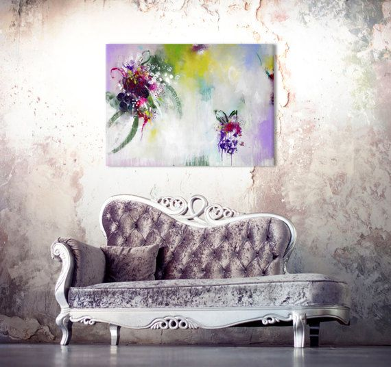 Original extra large abstract painting bold colors acrylic