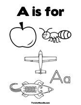 Coloring pages for each letter. Change to Spanish