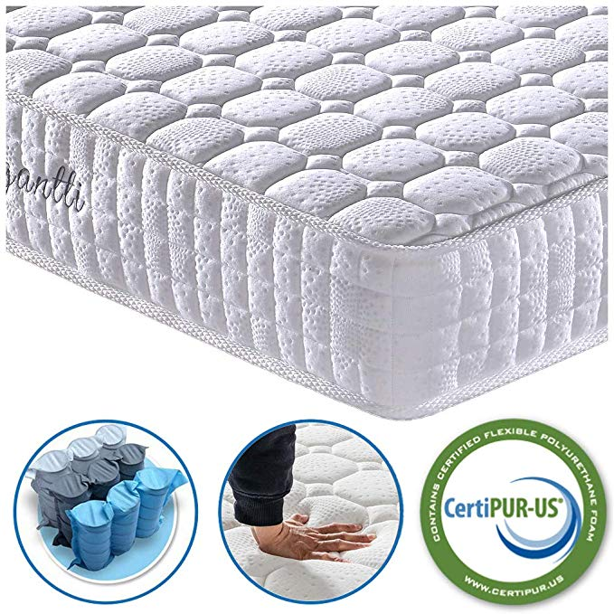 Amazon Com Vesgantti 9 4 Inch Multilayer Hybrid Twin Mattress Multiple Sizes Styles Available Ergonomic Des Pocket Spring Mattress Mattress Twin Mattress