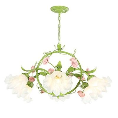 Grün Pastoral Blumen Wohnzimmer Hängelampe modernes Esszimmer zum ...
