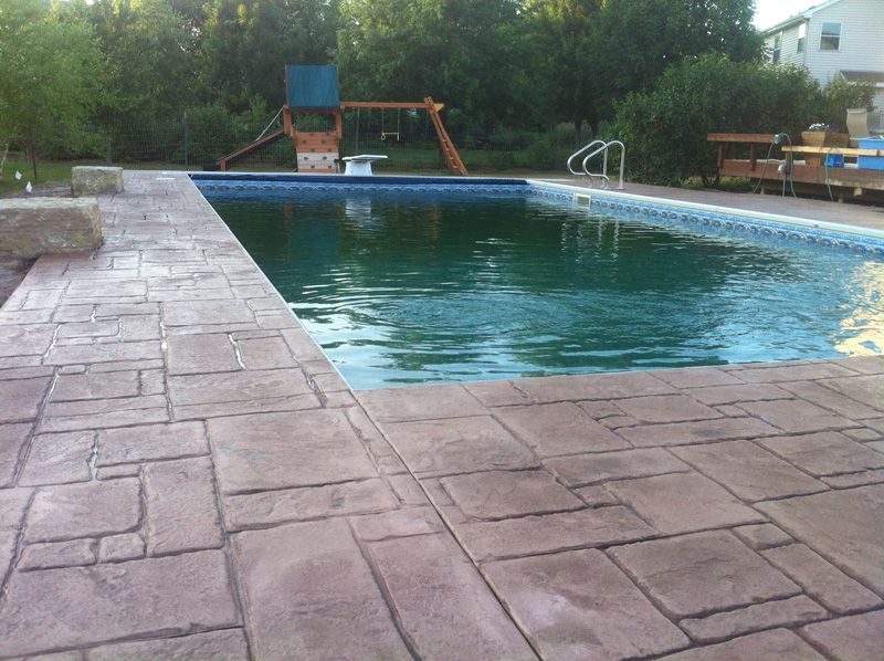 Stamped Concrete Around Pool Cost Buethe Org Pool Cost Pool Stamped Concrete Patio