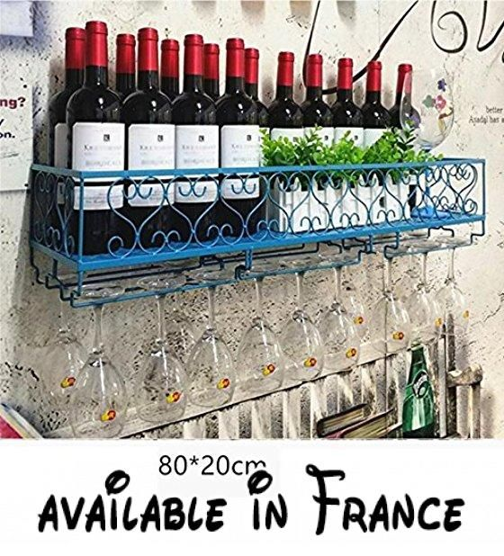 Porte-bouteilles de vin Maison à l\u0027envers Cadre en verre fer - installer un cadre de porte