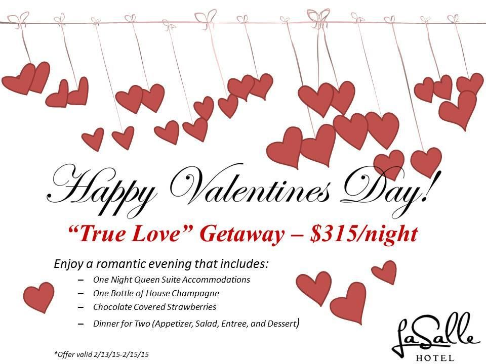 "Check out the ""True Love"" Getaway at the La Salle Hotel in Downtown Bryan. Perfect for a special night away from the house!"