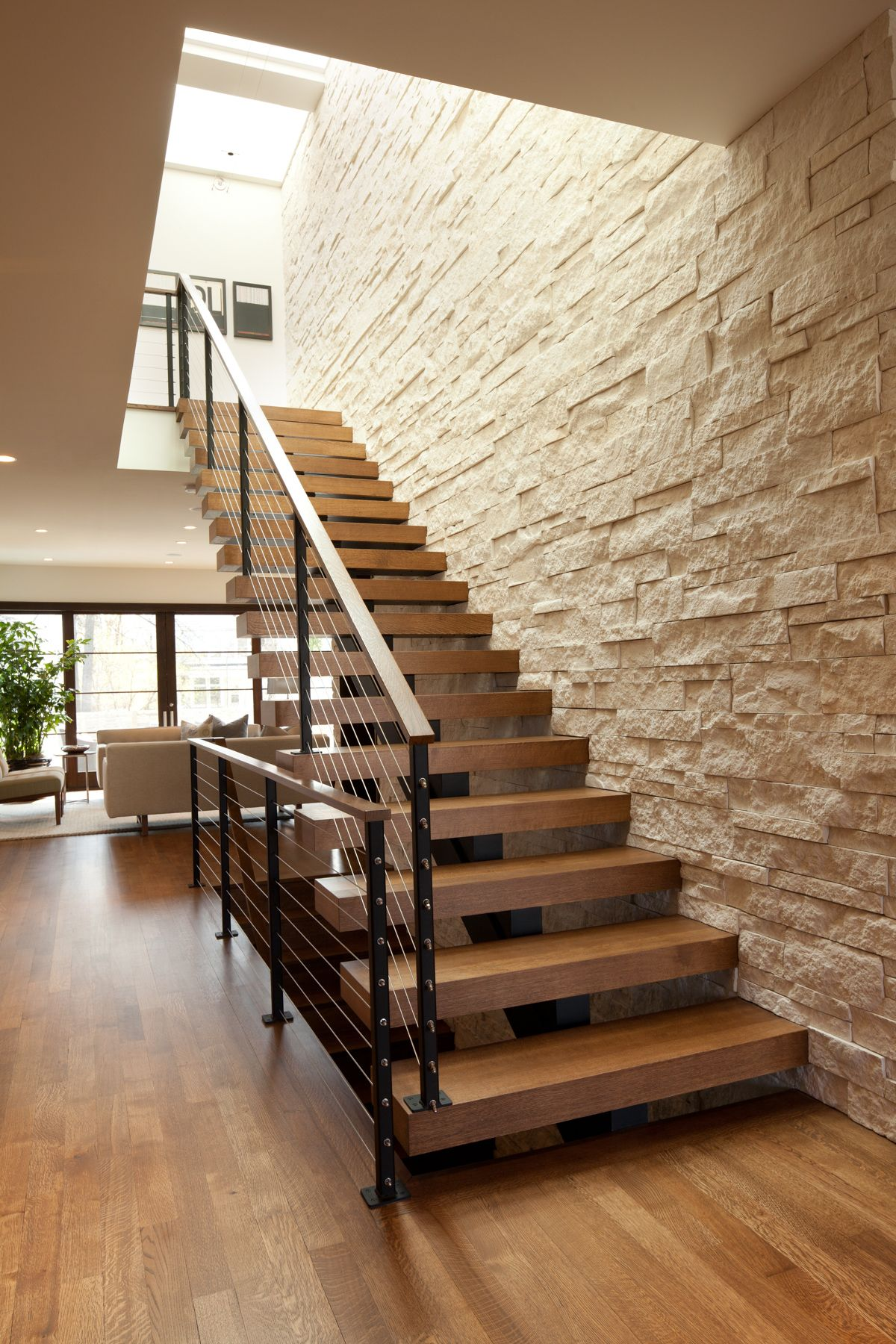 Modern Wood Staircase 6 Staircase Design Stairs Design Modern Room Divider