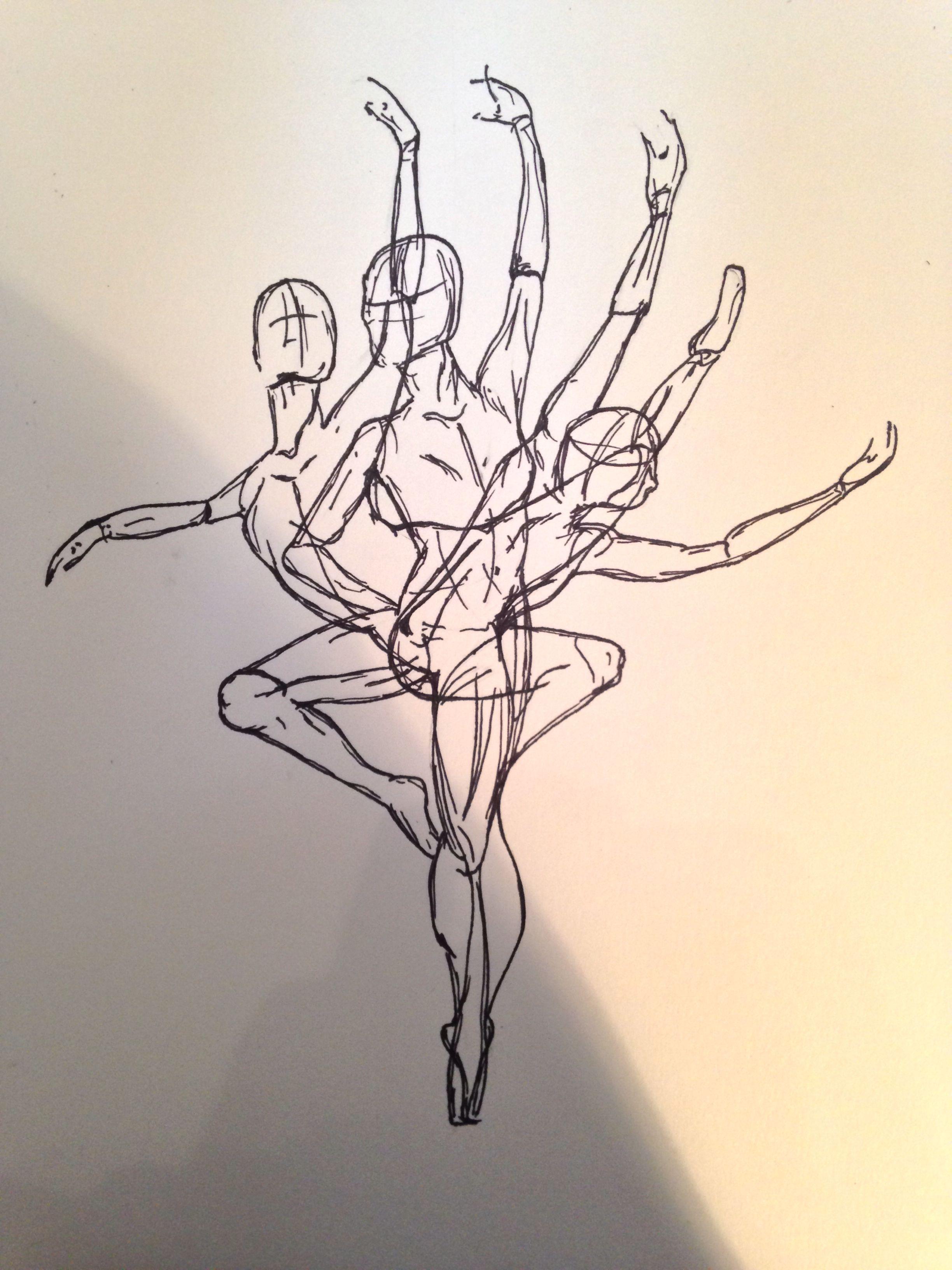 My Ink Ballerina Drawing Motion Abstract Portfolio Art Sharpie Dancing Dance Dancing Drawings Art Art Drawings Sketches