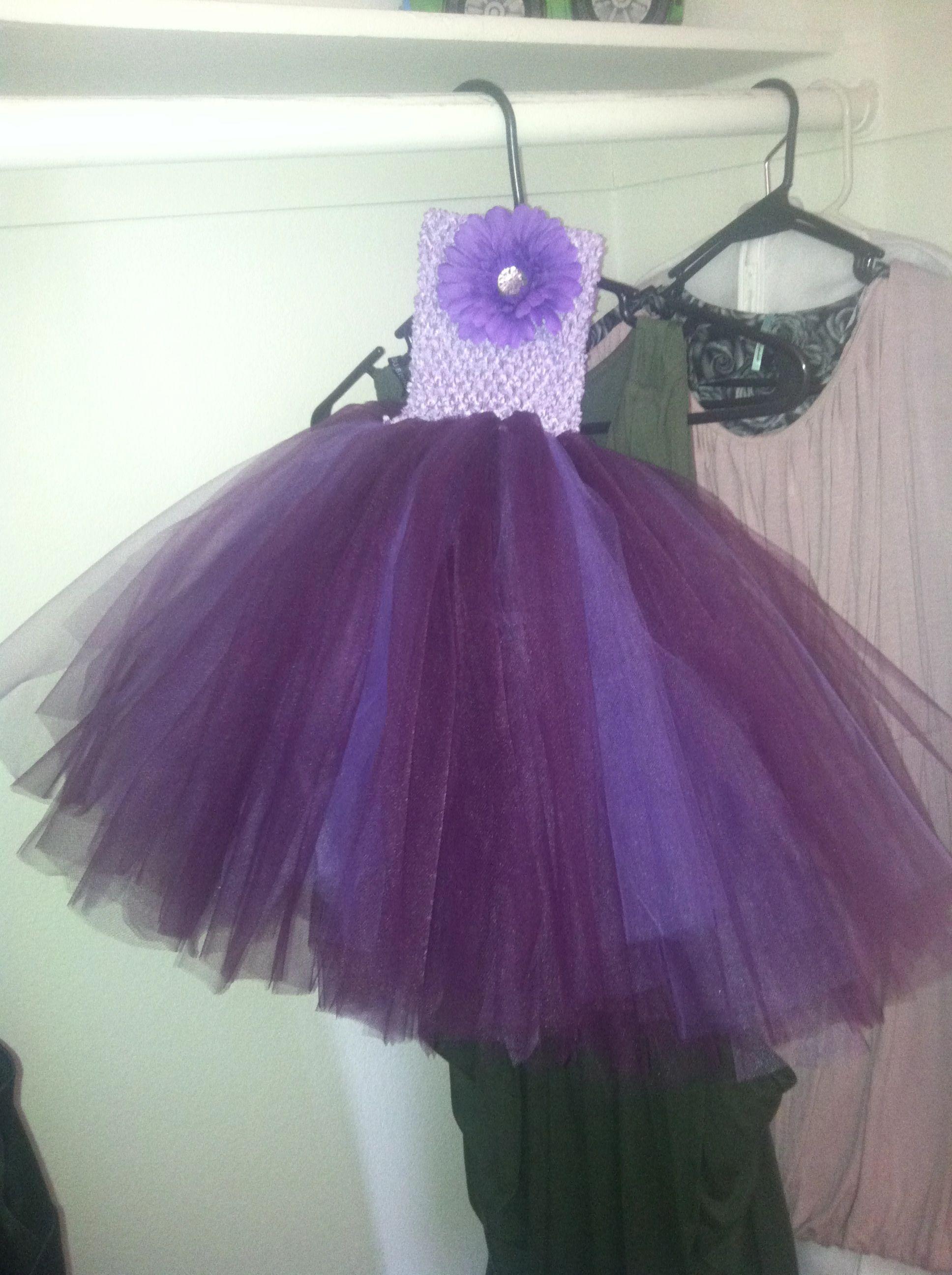 Tutu flower girl dress