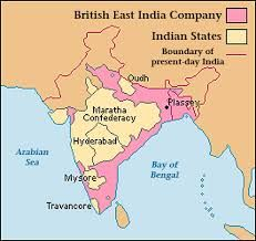Map Of East India Company Territory Maps Of Indian History