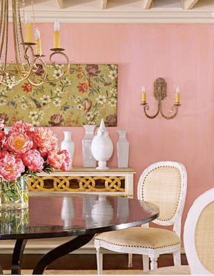 matte pink walls. yes. | living room love | Pinterest | Pink walls ...