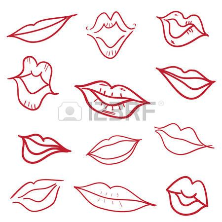Stock Vector Doodle Images How To Draw Hands Lips Illustration