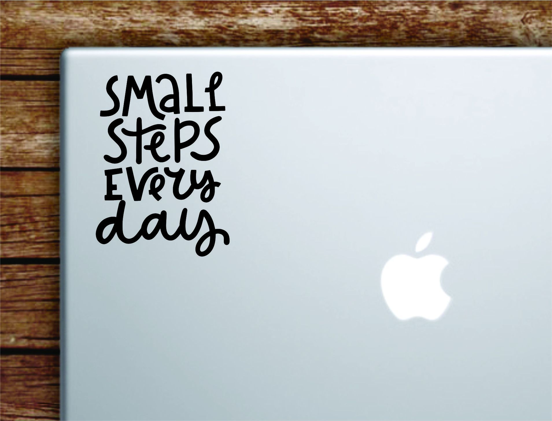Small Steps Every Day V2 Laptop Wall Decal Sticker Vinyl Art Quote Macbook Apple Decor Car Window Truck Kids Baby Teen Inspirational Girls Gym Health Sports School - olympic blue