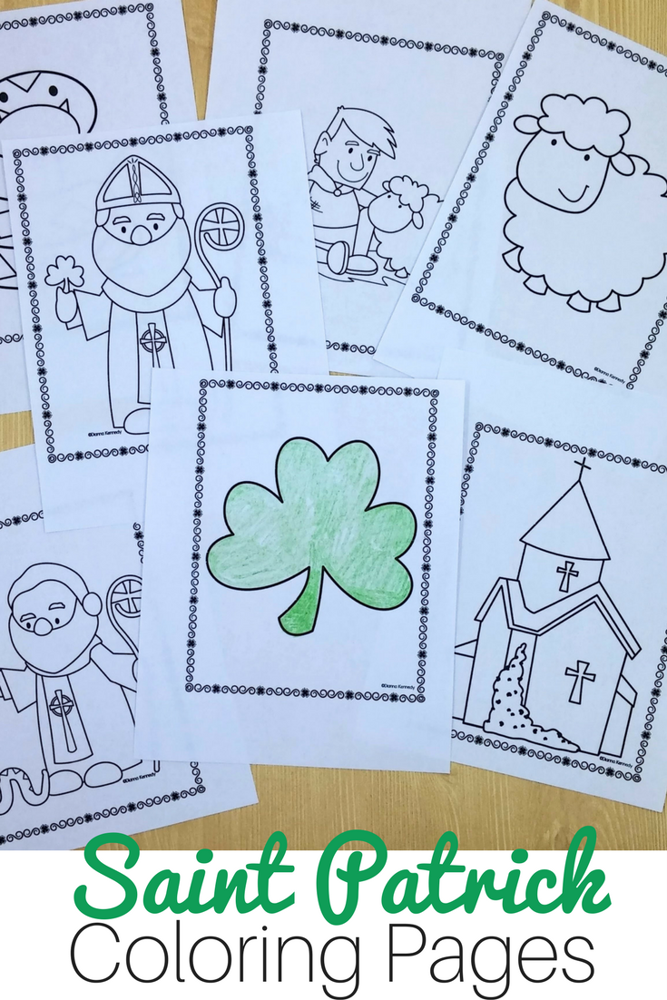 Saint Patrick Coloring Pages for Catholic Kids | The Kennedy ...