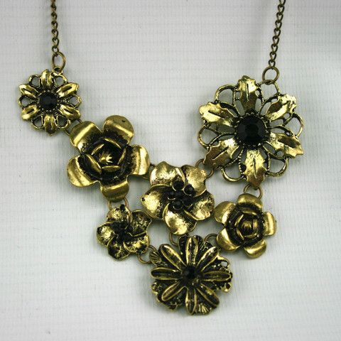 Bronze flower necklace £5.99 at the jewellery junky shop
