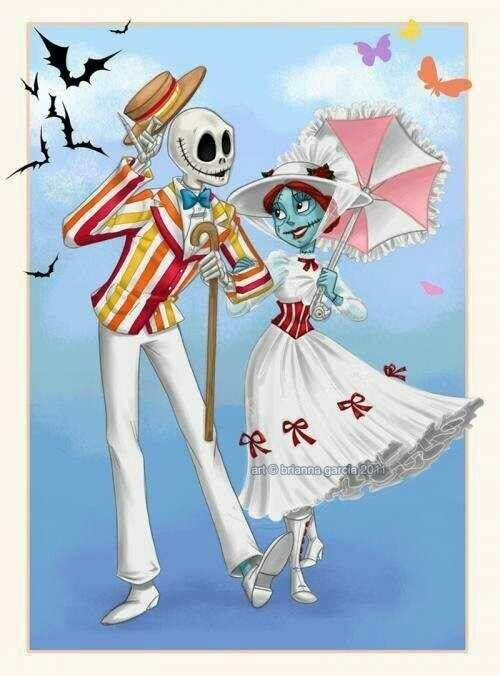 Jack and sally take on Mary Poppins. ❤️