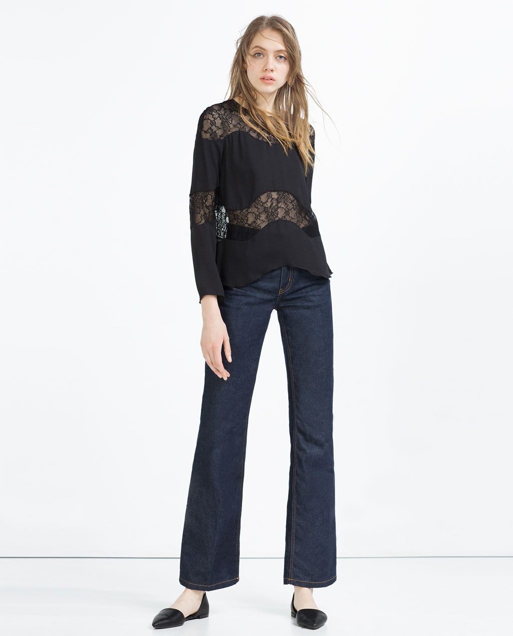 a1e3f44f093 Image 1 of LACE TOP from Zara