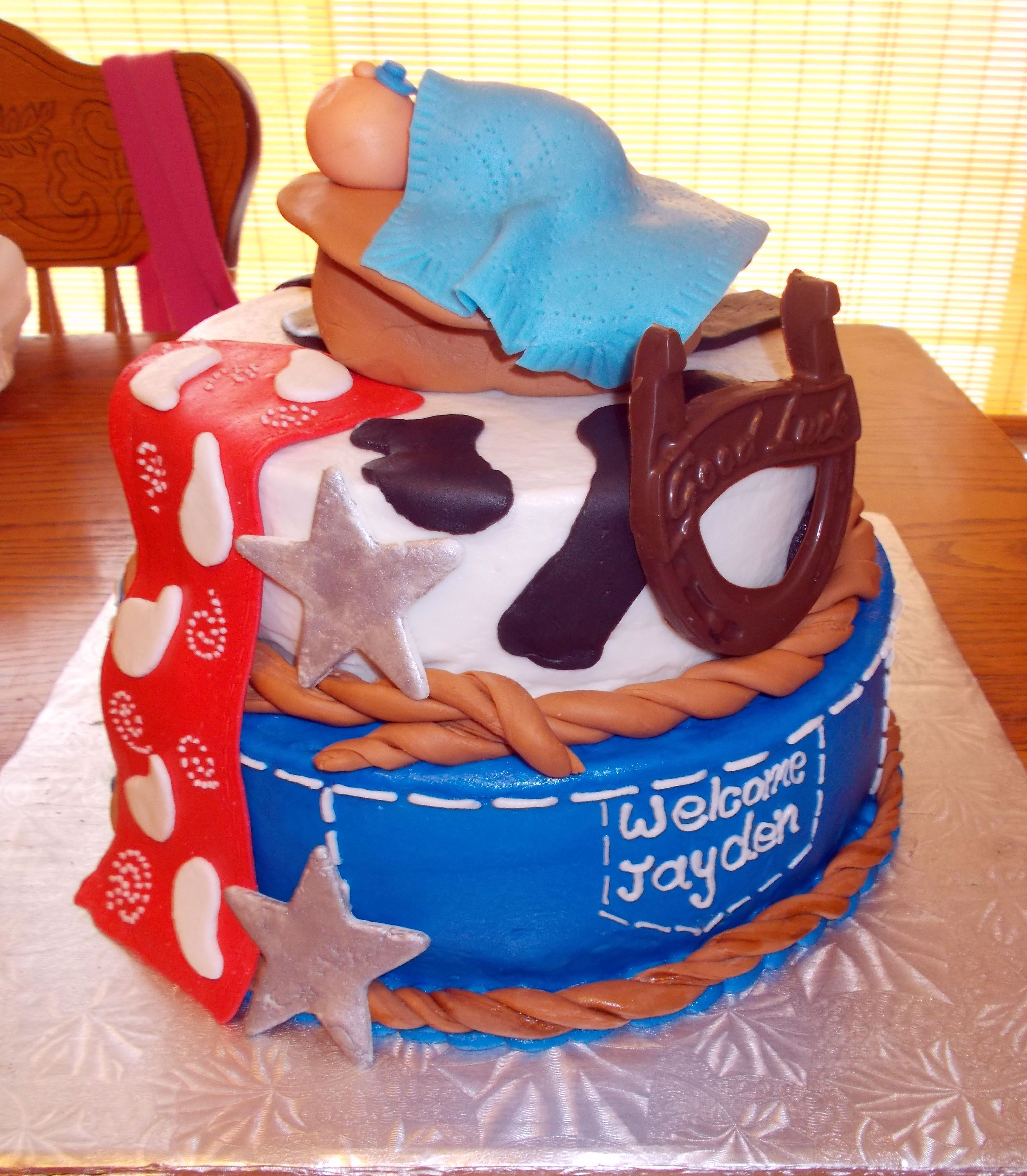 Western Themed Baby Shower Cake Things Ive Created Pinterest