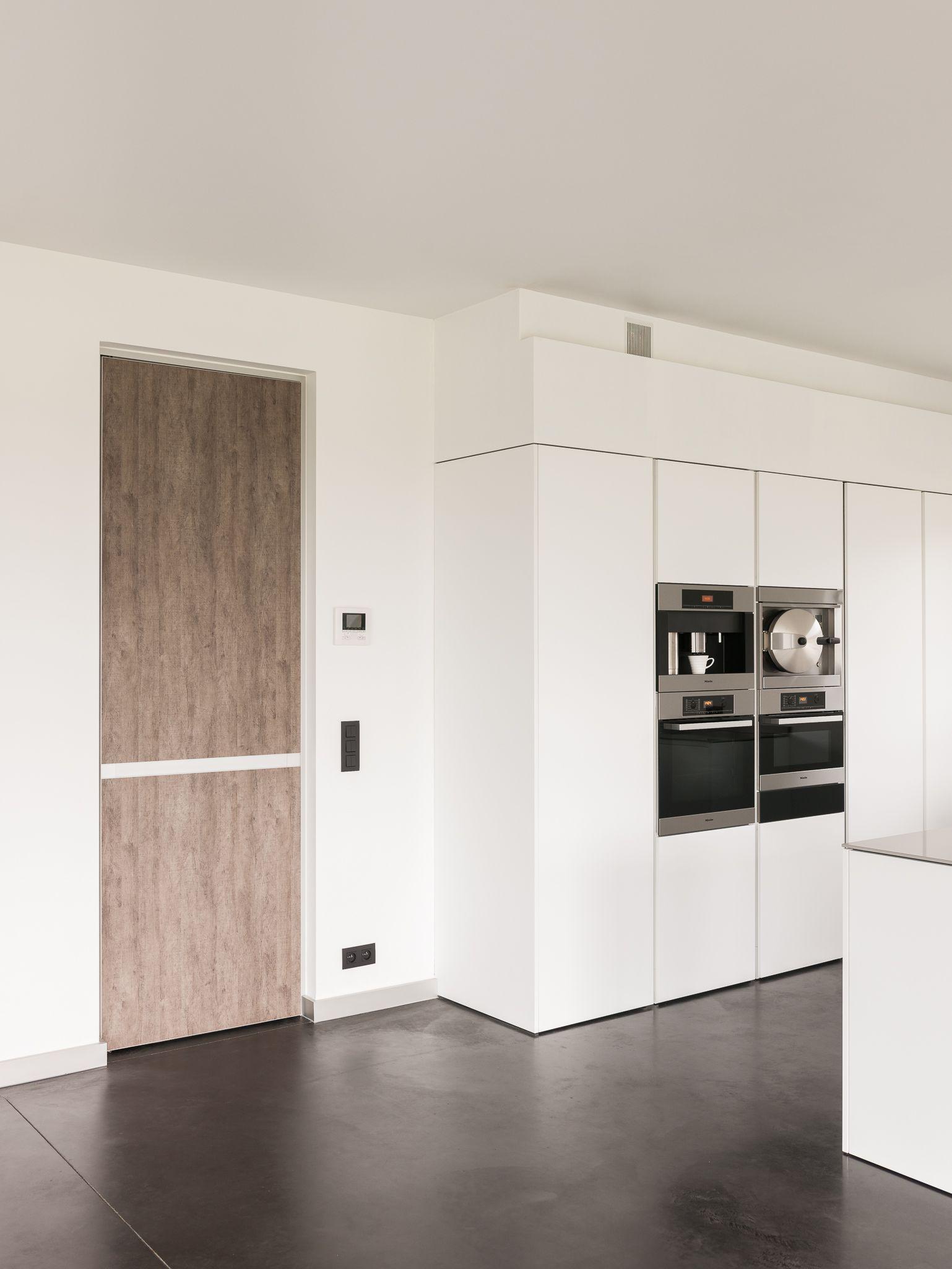 Modern interior door - Modern Interior Door With Wood And Anodized Aluminium