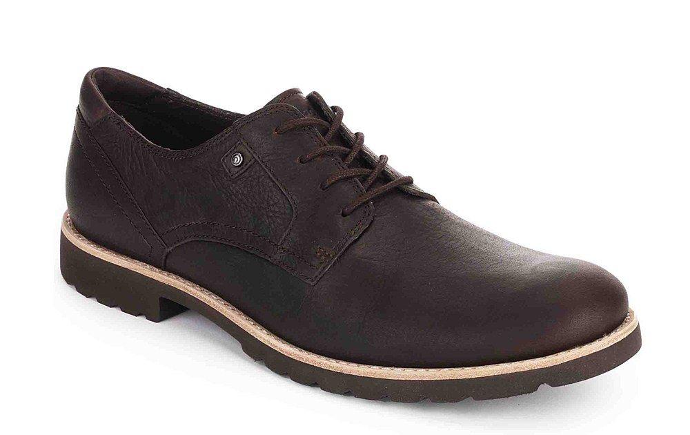 Essential Detail II Captoe, Chaussures à Lacets Homme, Noir (Black Leather), 46 EURockport