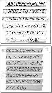 Expresion Grafica Caligrafia Y Letra Tecnica Para Dibujo Tecnico Technical Drawing Architecture Symbols Lettering Alphabet
