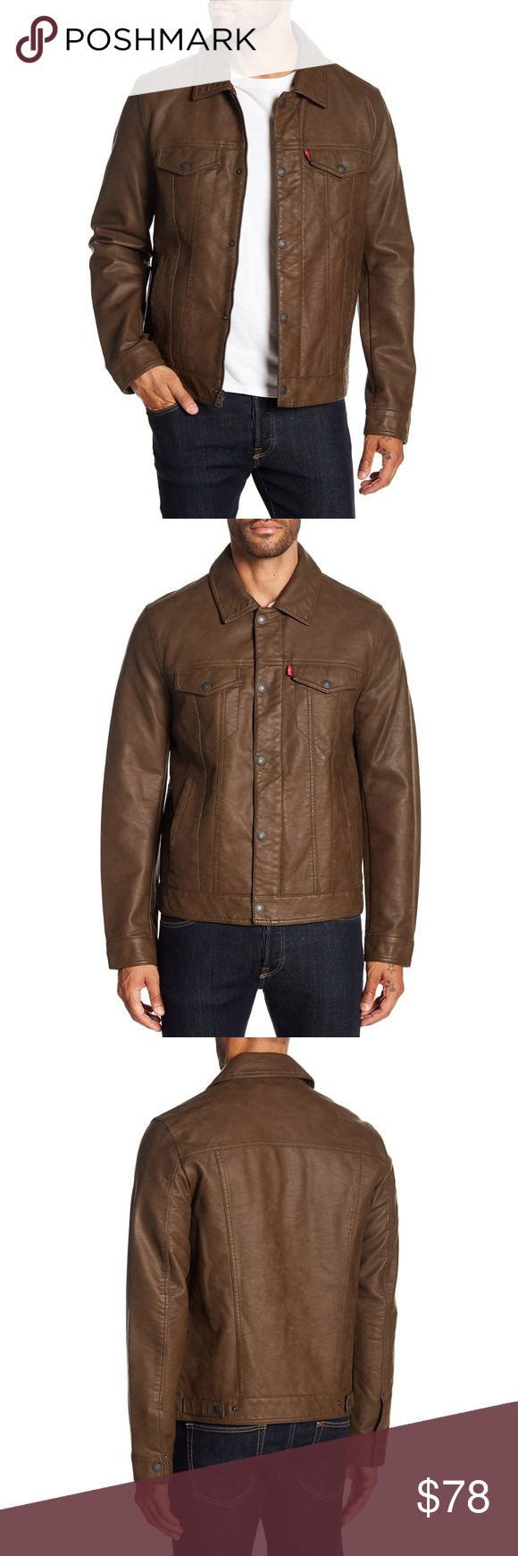 Levi's Classic Soft Faux Leather Trucker Jacket Trucker