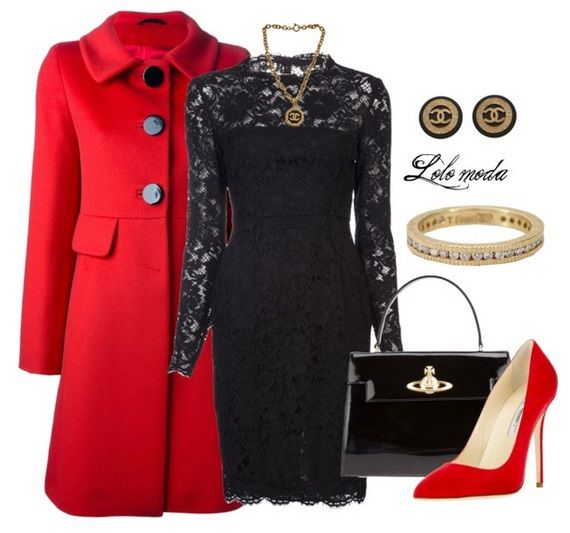 Lolo moda, red & black dress, www.lolomoda.com