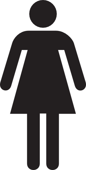 Basic Figure Bathroom Signs Toilet Logo Toilet Sign