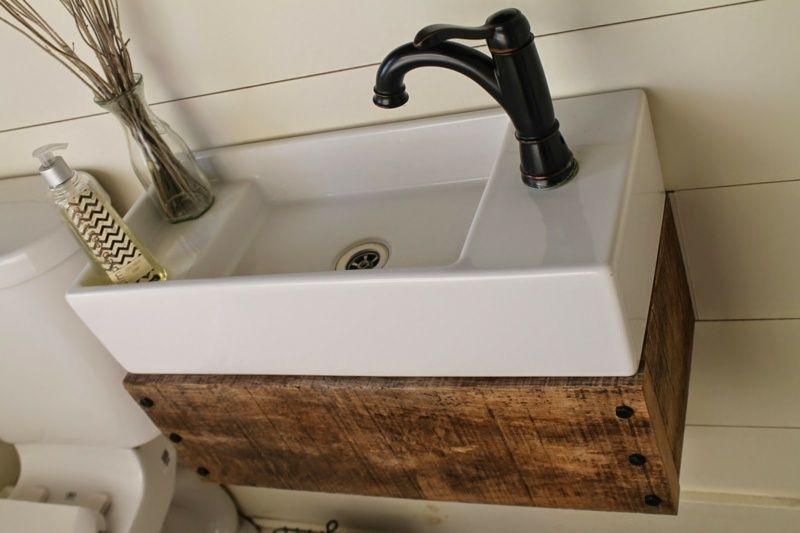 waschtisch aus holz mit brettern einen kasten bauen - Bad Unterschrank Selber Bauen
