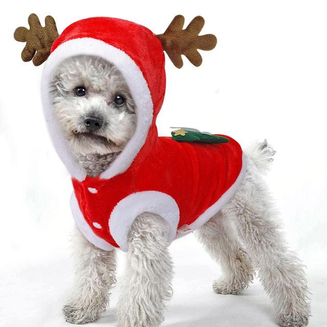 Christmas Dog Clothes Small Dogs Santa Costume For Pug Chihuahua