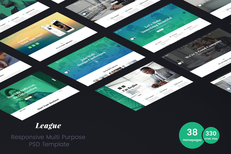 League Multipurpose Business HTML Template agency,