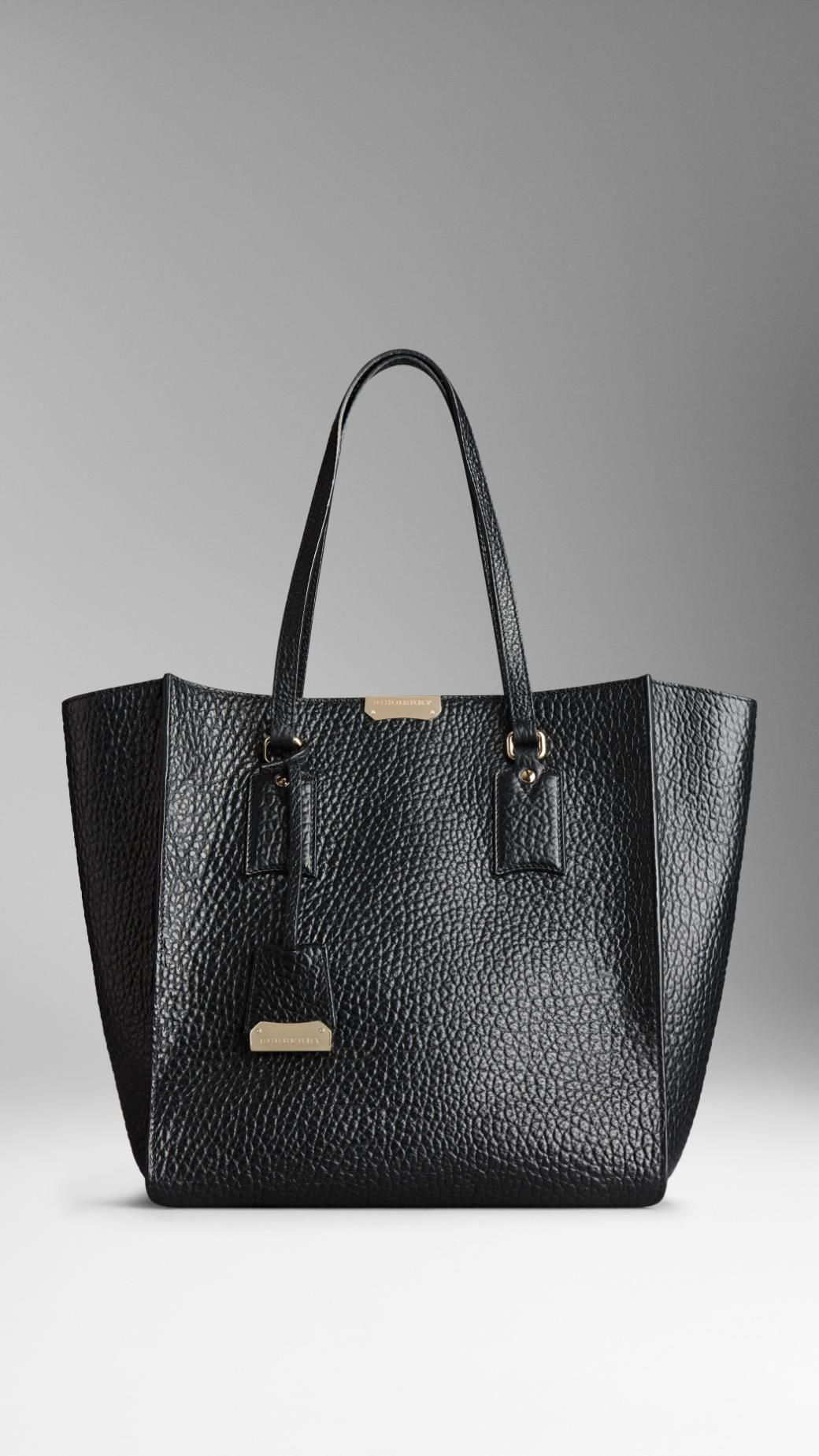 64f4d636763df7 Medium Signature Grain Leather Tote Bag | Burberry #Burberryhandbags ...